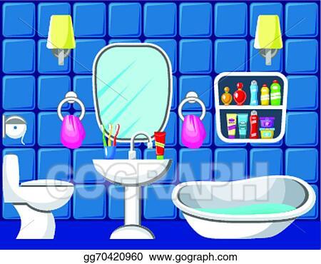 vector clipart bathroom vector illustration gg70420960 gograph. Black Bedroom Furniture Sets. Home Design Ideas