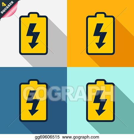 Vector Stock Battery Charging Sign Icon Lightning Symbol Stock