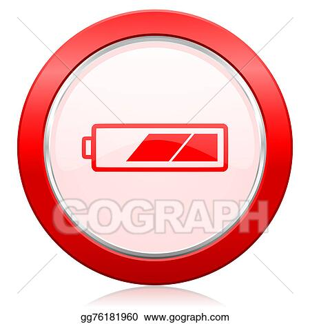 Stock Illustration Battery Icon Charging Symbol Power Sign