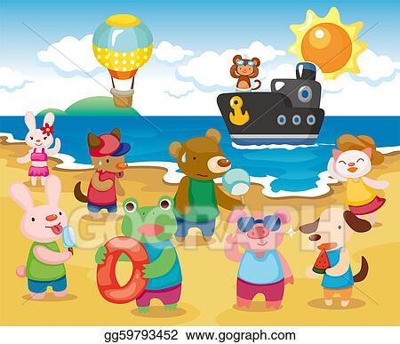 Pool Party Cartoon Illustration Stock Illustration - Download Image Now -  iStock