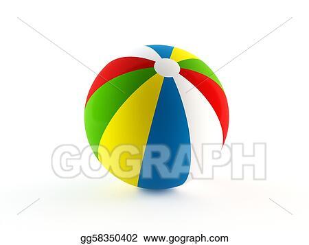 Stock Illustration Beach Ball Clipart Drawing Gg58350402 Gograph