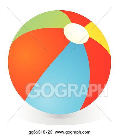 vector illustration beach ball eps clipart gg65318723 gograph rh gograph com free clipart beach ball beach ball clipart no background
