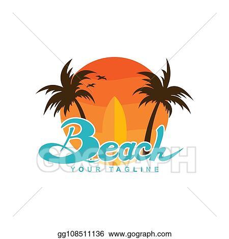 Vector Art Beach Logo Design Eps Clipart Gg108511136 Gograph