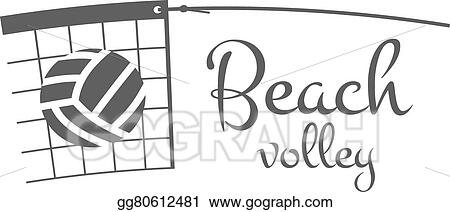 Vector Art - Beach volleyball label, badge, logo and icon