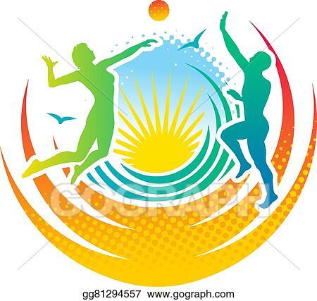 vector art beach volleyball clipart drawing gg81294557 gograph rh gograph com Beach Cornhole sand volleyball clipart free