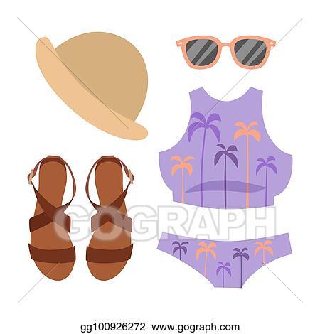 613f3bf8b0 Beachwear bikini vector cloth fashion looks beach sea vacation lifestyle  women collection sea light beauty fashioned clothes illustraton