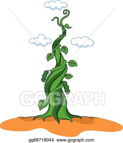 vector art beanstalk clipart drawing gg68718044 gograph rh gograph com jack and the beanstalk clipart free jack and the beanstalk castle clipart