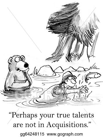 Stock Illustration Bear Is Coaching Man In Catching Fish Clipart