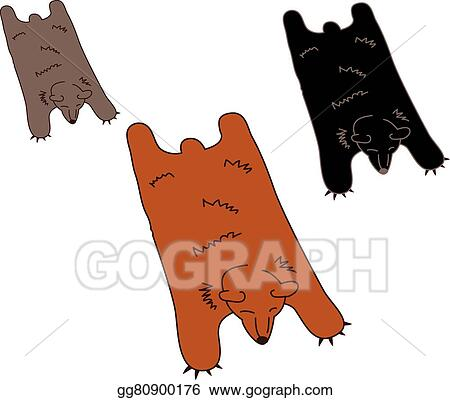 Vector Art Bear Skin Rug For Man Cave Clipart Drawing Gg80900176