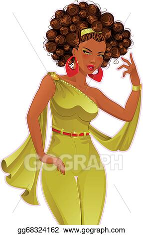 vector art beautiful african american woman clipart drawing rh gograph com african american woman praying clipart african american woman clipart free