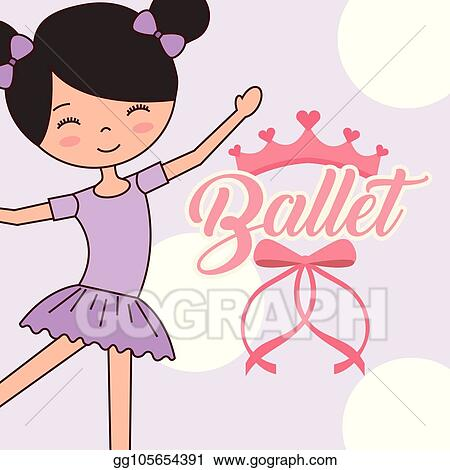 Eps Vector Beautiful Ballerinas Ballet Cartoon Character Stock Clipart Illustration Gg105654391 Gograph