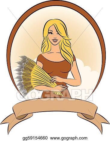 Sheaf Wheat Enagraving Vector Stock Vector (Royalty Free) 210365467