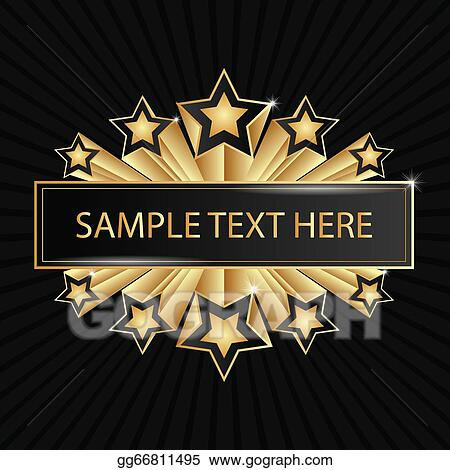 Clip Art Vector - Beautiful golden banner with shining ...