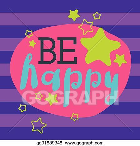 Vector Clipart Beautiful Happy Birthday Invitation Cards