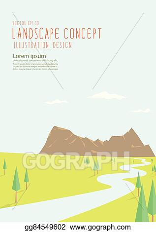 vector clipart beautiful natural scenery has a long road to the rh gograph com