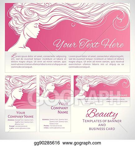 Vector Stock Beautiful Silhouette Of Long Hair Woman On Pink Background Stock Clip Art Gg90285616 Gograph