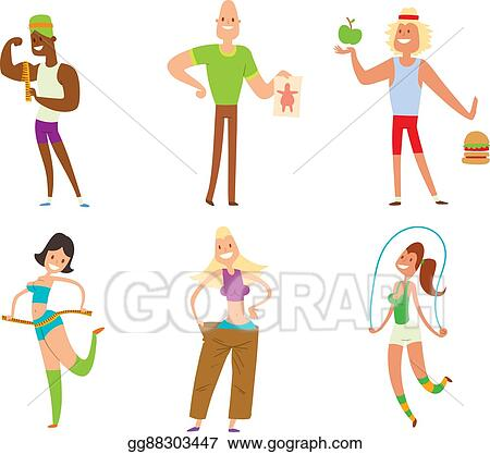 Eps Vector Beauty Fitness People Weight Loss Stock Clipart Illustration Gg88303447 Gograph