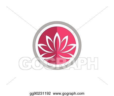 vector clipart beauty lotus logo template vector illustration