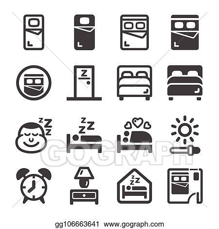 Vector Clipart Bedroom Icon Vector Illustration Gg106663641 Gograph