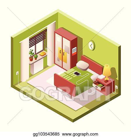 Enjoyable Clip Art Vector Bedroom Vector Cartoon Illustration Of Interior Design Ideas Helimdqseriescom