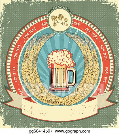 Vector Illustration Beer Symbol Of Labelntage Background With