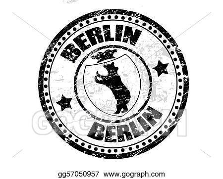 Eps Vector Berlin Stamp Stock Clipart Illustration Gg57050957
