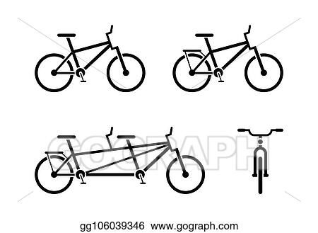 Vector Art - Bicycle icon pictogram  Clipart Drawing gg106039346