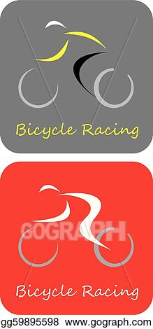 vector art bicycle racing vector icon clipart drawing