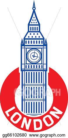 vector art big ben design big ben label eps clipart gg66102680 rh gograph com big ben skyline clipart big ben clock clipart