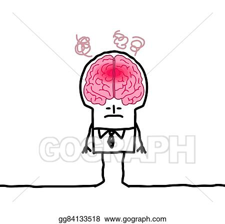 Stock illustration big brain man fever clipart drawing big brain man fever thecheapjerseys Gallery