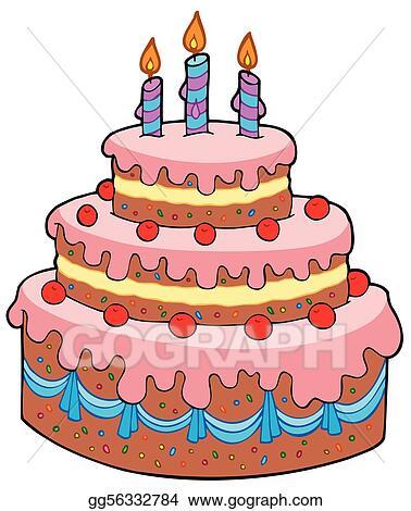 Big Cartoon Birthday Cake