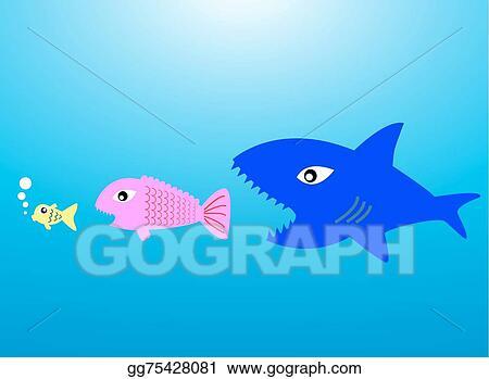 Vector art big fish eat little fish eps clipart gg75428081 gograph big fish eat little fish thecheapjerseys Choice Image
