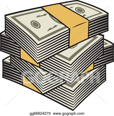 vector stock big stack of money clipart illustration gg66624275 rh gograph com Us Money Clip Art Stack of Papers Clip Art