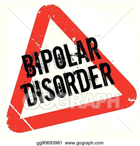 vector art bipolar disorder rubber stamp clipart drawing