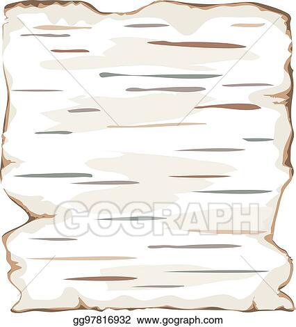 Clip Art Vector - Birch bark background frame isolate. Stock EPS ...