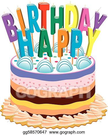 Fantastic Vector Art Birthday Cake With Candles Eps Clipart Gg58570647 Funny Birthday Cards Online Elaedamsfinfo