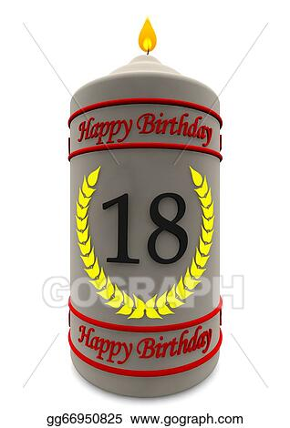 Birthday Candle For 18th