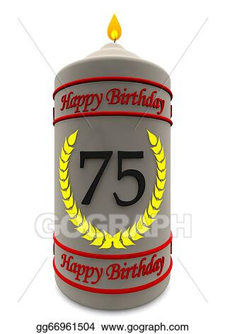 Birthday Candle For 75th