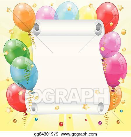 EPS Vector - Birthday frame. Stock Clipart Illustration gg64301979 ...