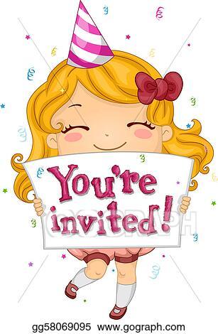 Stock Illustrations Birthday Invitation Stock Clipart Gg58069095