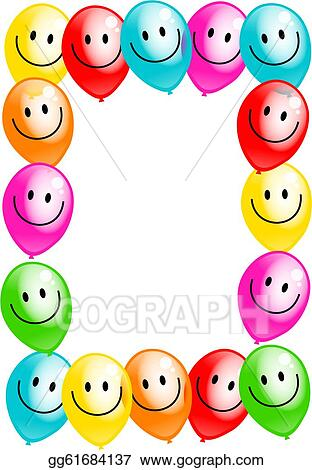 stock illustration birthday party balloon border clip art rh gograph com