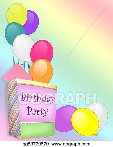 Stock Illustration Birthday Party Invitation Background Clipart