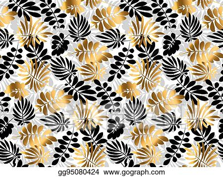Eps Vector Black And Gold Luxury Tropical Leaves Seamless Pattern Decorative Summer Nature Surface Design Vector Illustration For Print Card Poster Decor Header Stock Clipart Illustration Gg95080424 Gograph Download all photos and use them even for commercial projects. https www gograph com clipart license summary gg95080424