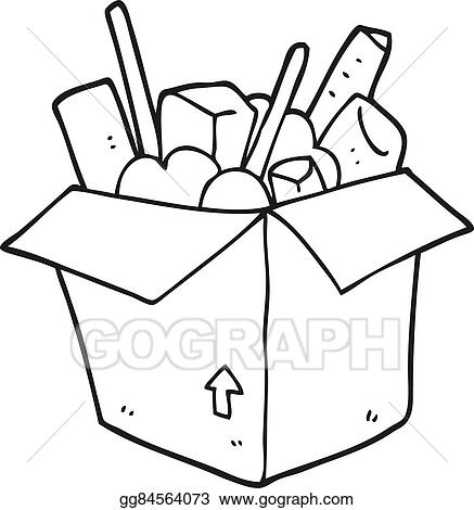 vector stock black and white cartoon box of things stock clip art rh gograph com crayon box clip art black and white crayon box clip art black and white