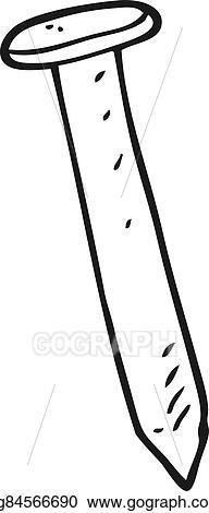 Black And White Cartoon Nail
