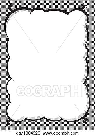 Stock Illustration - Black and white comic cloud frame. Clipart ...