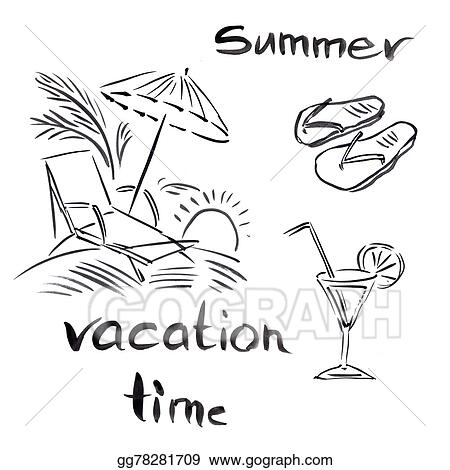 Stock Illustration Black And White Illustration Of Traveling
