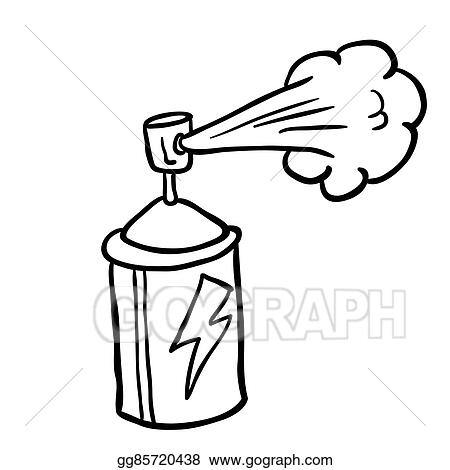 Vector Stock - Black and white spray can. Clipart ...