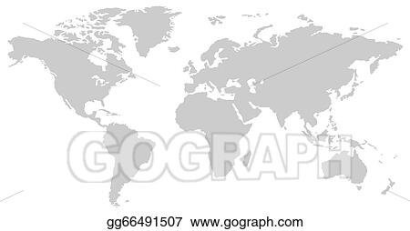 World Map Clip Art Black And White.Stock Illustration Black And White Vertical Line Pattern World Map