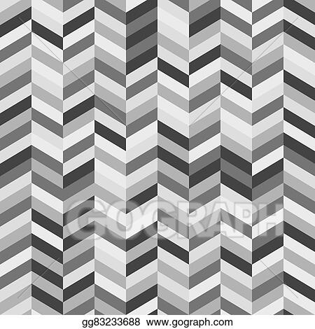 Black and white zig zag abstract ba